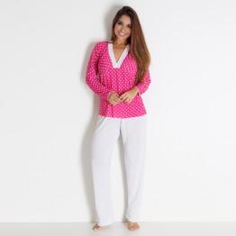 """Pijama Feminino Detalhe """"V"""""""